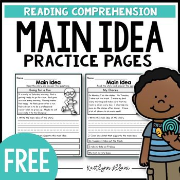 Great free resource for practicing main idea with primary students. Included in blog post featuring Animals in the Winter.