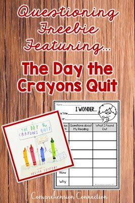 The Day the Crayons Quit is perfect for questioning, but it's also great for cause/effect too. Check out this post for great books for building character.