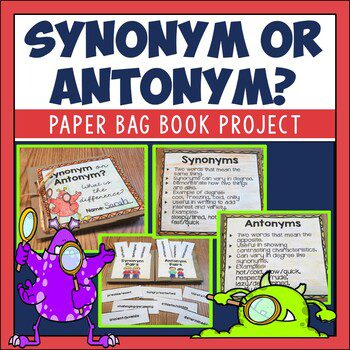 Kids have a hard time keeping synonyms and antonyms straight, but these hands on activities will help make the lessons fun and improve retention. Students grow word knowledge too.