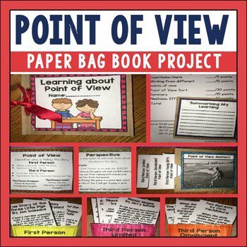 Do your students confuse Point of View and Perspective? Do you need to find a fun way to practice point of view? Check out this paper bag book for your RTI sessions, workstations, or for afterschool lessons.