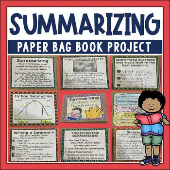Summarizing fiction and nonfiction takes practice with strategies to pull ideas together. This hands on book will help your students practice strategies with multiple texts.