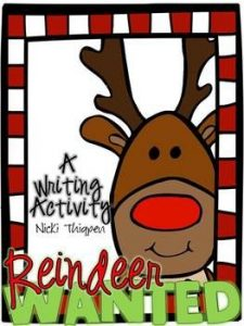 Two different activities included: Create a wanted/lost poster for one of Santa's missing reindeer. Fill out a job application to become one of Santa's reindeer.