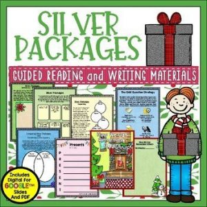 Silver Packages by Cynthia Rylant is the perfect book for December. The author's message is simple....give to others from the heart. Check out this blog post for details on this unit as well as a FREE sample lesson.