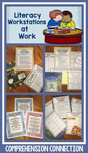 These print and go literacy work stations require minimal materials and directions. Students practice with real literature and have accountability with each option.